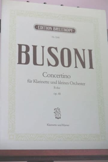 Busoni F - Concertino Op 48 for Clarinet & Piano arr Taubmann O
